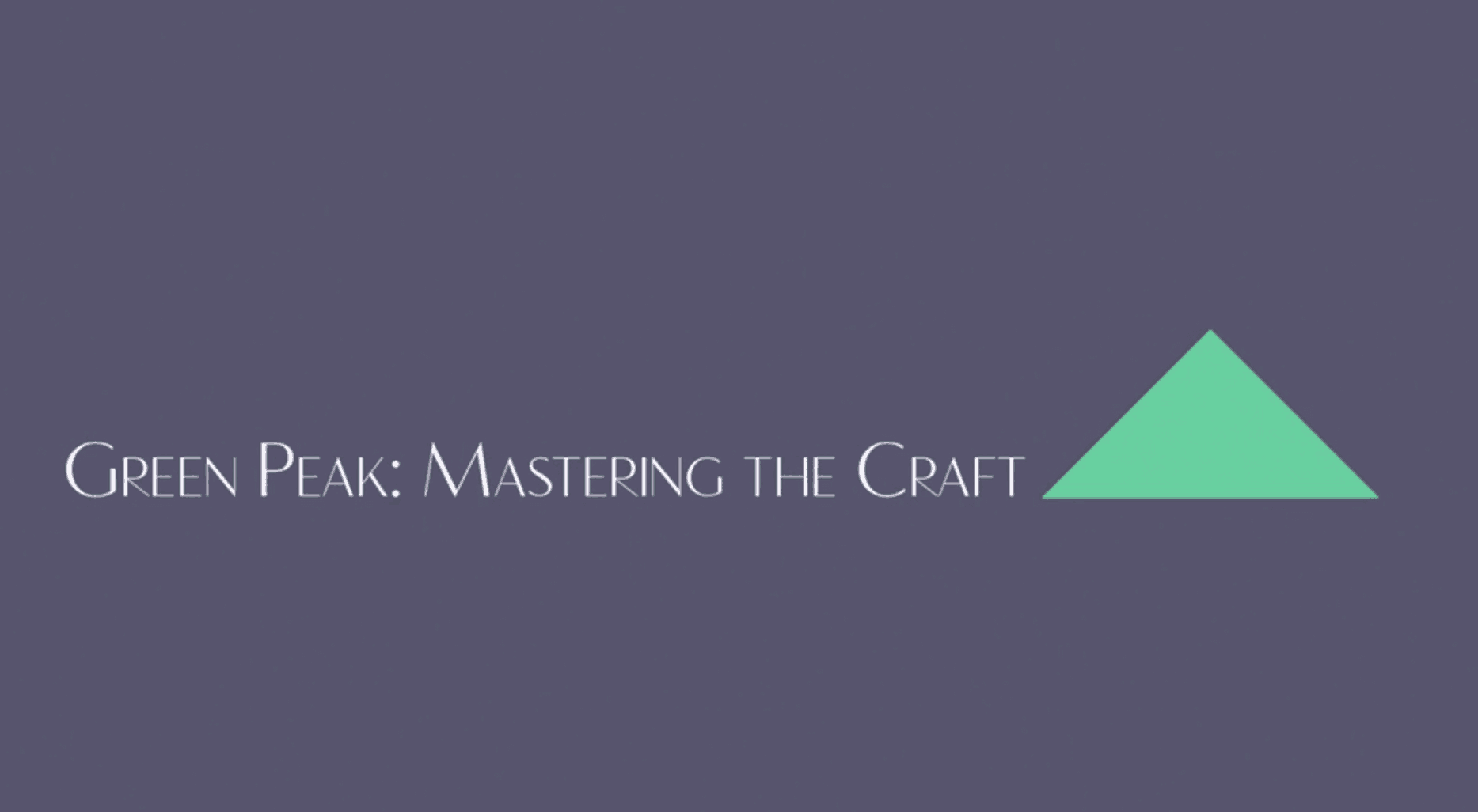 MasteringTheCraft
